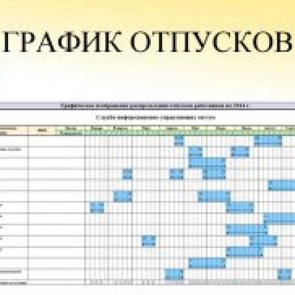 Изменение графика отпусков в течение года